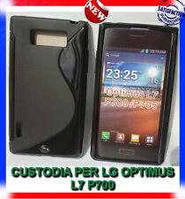 Pellicola+Custodia cover case WAVE NERA per LG Optimus L7 P700 (H9)