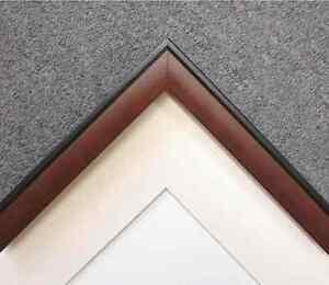 BROWN BLACK PANORAMIC Panorama Poster Frame IVORY Mat