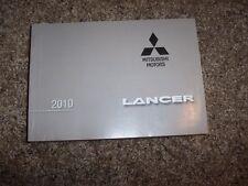 2010 Mitsubishi Lancer DE ES GTS Ralliart CVT 2.0L 4Cyl User Guide Owner Manual