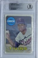 1969 Topps Rod Carew #510 Twins HOF-AUTO Beckett BAS 🎻💎