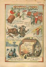 Hunter Wild Boar Humour Chasse Gibiers Sangliers Chasseur Locomotive Luge 1934