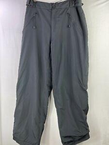 RAINBOW Size Large Mens Black Zipper Pocket Cargo Pants Nylon Elastic Waist