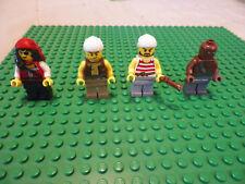 Lot 4 Lego Pirates minifigures minifigs excellent shape