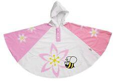 Bugzz Kids Girl Orchid Flower Poncho Rain Coat Childrens / Childs Waterproof Mac