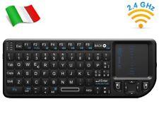 Rii Mini X1 Wireless - Tastiera e mouse touchpad per Smart TV, Mini PC e Console
