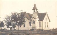 White South Dakota~Methodist Episcopal Church~Country~Out House?~1911 RPPC