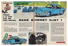 1964 DOCUMENT (ref Ips 1383)  AUTO  :  RENE BONNET DJET 1  3 pages