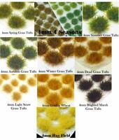 120 x 4mm Static Grass Tufts Self Adhesive 28mm Ancients Wargames Basing Terrain