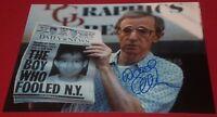 WOODY ALLEN SIGNED CLASSIC DIRECTOR W/ NEWSPAPER 8X10 PHOTO AUTOGRAPH COA