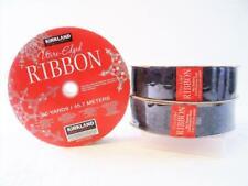 "3-Pack Kirkland Signature Wire-Edged Ribbon Purple w/ Design 50-yards 1.5"" 13B13"