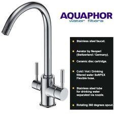 Aquaphor 3 Way Tap Water Filter Kitchen Sink Mixer Twin Lever