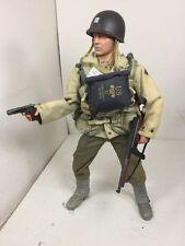 1/6 DRAGON US ARMY 2ND RANGER CAPT D-DAY OMAHA BEACH THOMPSON+COLT WW2 BBI DID
