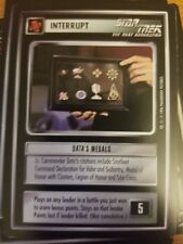 Star Trek CCG Q-Continuum Data's Medals NrMint-Mint TCG