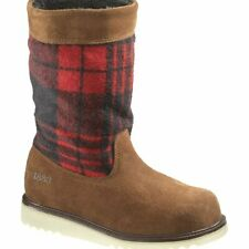 Women's  Wolverine Ashley Brown Suede buffalo plaid Waterproof Winter Boots 6.5