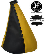 BLACK & YELLOW LEATHER MANUAL GEAR GAITER FITS FIAT COUPE FA/175 1993-2000