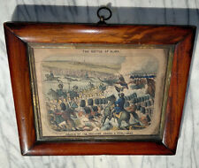 More details for c1860 antique framed print battle of alma hand coloured~old town london