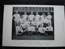 Rare original célèbres footballeurs, #079 england xv rugby 1895 - 96