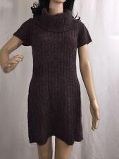 St Ambecco Cowl Neck Sweater Dress Medium Italian Made Purple Wool Blend Mohair