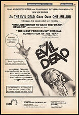 THE EVIL DEAD__Original 1983 Trade Print AD / poster__screening promo__SAM RAIMI