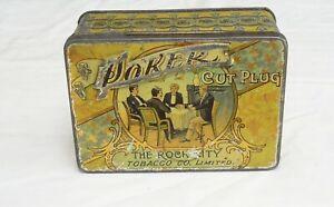 Vintage Poker Cut Plug tobacco Tin