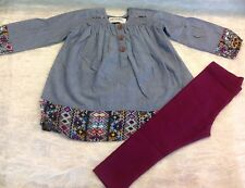 """NWT Jak & Peppar Wee One by Mustard Pie BOHO Style Outfit 2T """"Old Navy Leggings"""""""
