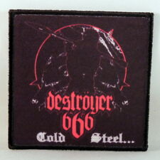 DESTROYER 666 Cold Steel... (Printed Small Patch) (NEW)