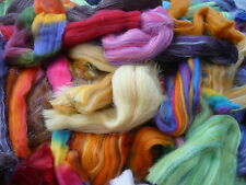 Heidifeathers® Felting Wool Roving / Tops 'Posh Scraps' Wool off Cuts / Scraps