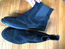 Sam Edelman 10 Black Women's Black Leather Sueded Ankle Boots