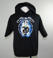 New Metallica Ride The Lightning Pacsun Short Sleeve Hoodie Shirt Size Small