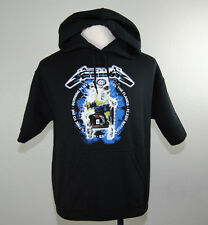 Metallica Ride The Lightning Pacsun Short Sleeve Hoodie Shirt (L) badhabitmerch