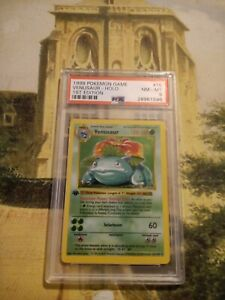 Pokemon Venusaur PSA 8 1st edition Shadowless