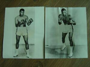 MUHAMMAD ALI&CLEVELAND WILLIAMS 2  ORIGINAL B/W STILLS FROM 1966