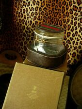 Ultra RARE Vintage GUCCI Glass Jar Cache Barware Service Piece Humidor GG in Box