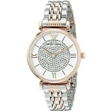 NEW EMPORIO ARMANI GOLD SILVER STAINLESS STEEL TOW TONE LADIES WATCH AR1926