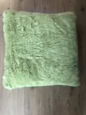BNWT Lime Green Faux Fur Cushion By Next