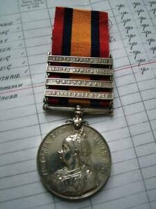 Victorian QSA 4 clasp medal Pte Walter Grimshaw Royal Highlanders Black Watch