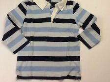 Girls Age 7 - 8 Years GAP Kids Blue Stripe Long Sleeved Top Shirt Ref: 9995