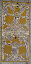 VINTAGE ABORIGINAL ARTIST PAINTING BROLGAS CATCHING FISH