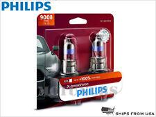 PAIR! PHILIPS X-treme Vision 9008 H13 Halogen Headlight bulbs +100% 9008XVB2 DOT