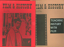 FILM & HISTORY * two issues of journal 1973 * New Deal * propaganda * British