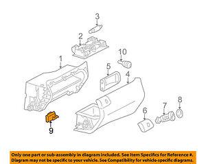 Mercedes MERCEDES-BENZ OEM 08-14 C300 Glove Compartment Box-Stop 0009887811