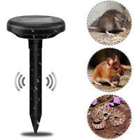 Solar Power Ultrasonic Mouse Snake Pest Mole Rodent Repeller Garden Yards Lot