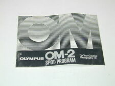 OLYMPUS notice OM-2 spot program en ENGLISH anglais photo photographie