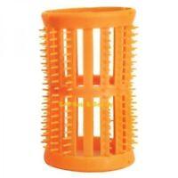 SKELOX Plastic Hair Rollers Curlers 12 x 40mm Orange  Free Pins