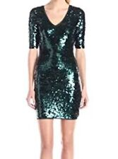 New with tag $338 BCBG Max Azria Aqua Combo Maura Sequined B1538 Dress Sz L