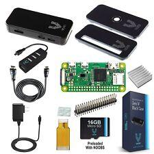 Raspberry Pi Zero W Complete Starter Kit Premium Black Case Edition Includes 7