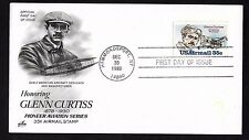 #C100  35c Glenn Curtiss - ArtCraft FDC Lg Cancel
