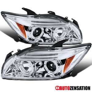 For 2005-2010 Scion tC Clear LED Dual Halo Rims Projector Headlights Lamps Pair