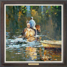 """Hand-painted Original Oil painting art knife horse On Canvas 24""""x24"""""""