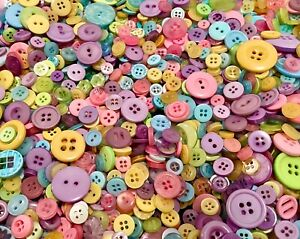 Easter Spring Pastel Baby Mix Buttons 100pcs Assorted Bulk Lot Aussie Seller